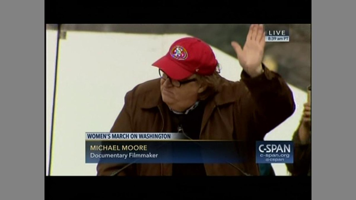 Ashley Judd joins Michael Moore on stage at #WomensMarch - shares poem...