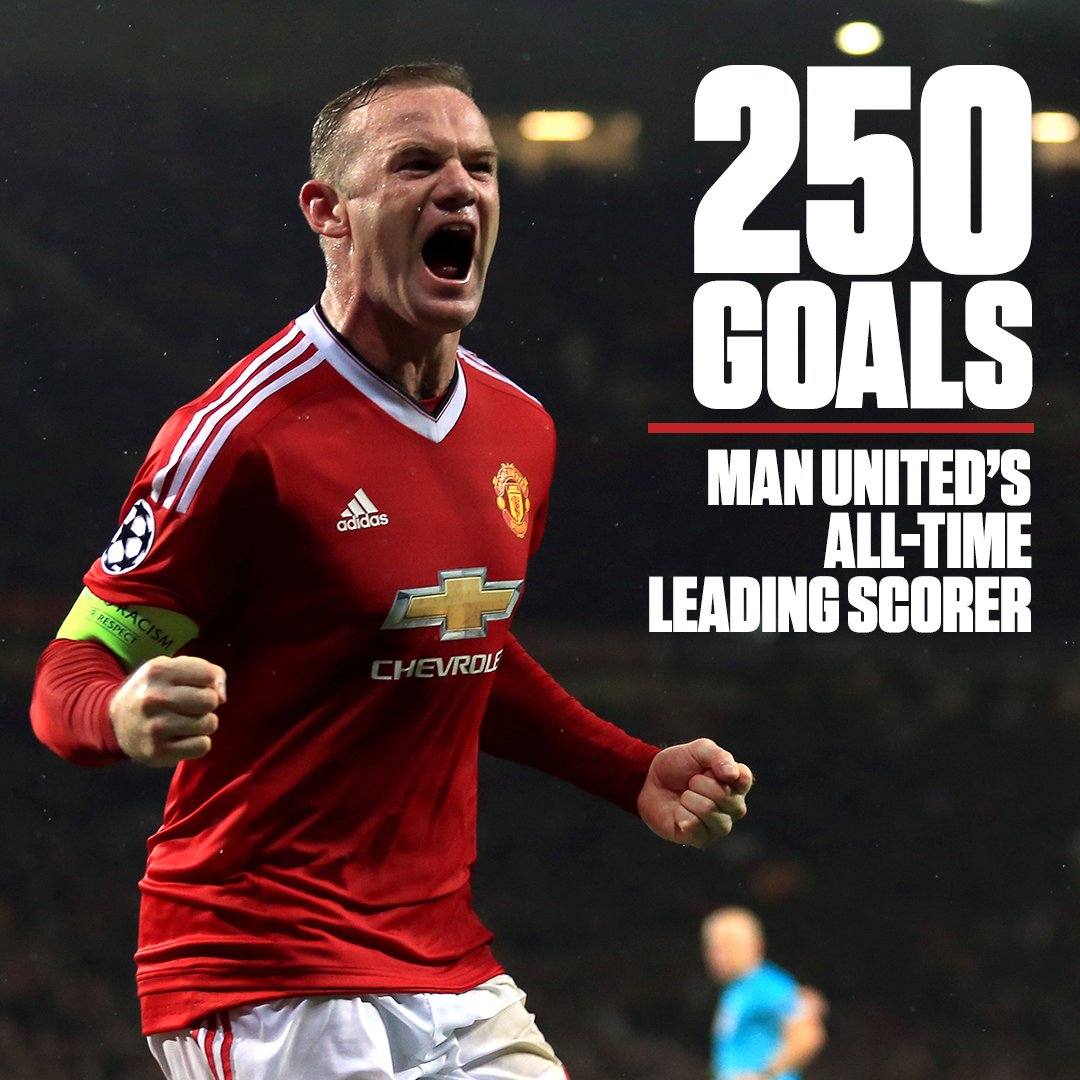 GOAL, Wayne Rooney! He scores goal No. 250 to become Manchester United...