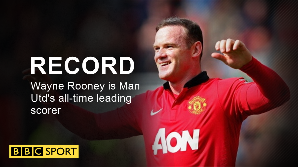 Wayne Rooney becomes Manchester United's record scorer, with his 250th...