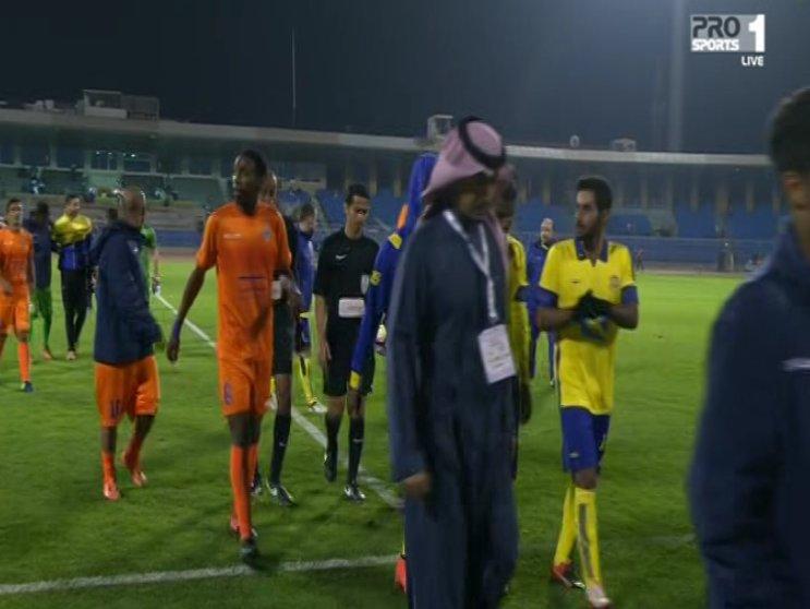 نهاية المباراة بين #النصر_الفيحاء بنتيجة 4-0 لصالح النصر مارأيك بمستوى...