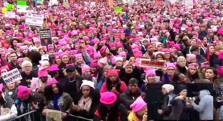 Building #BridgesNotWalls at the #Womensmarch in DC! Because another world is possible! #RiseLoveResist #whyIMarch https://t.co/dnAxopYnI2