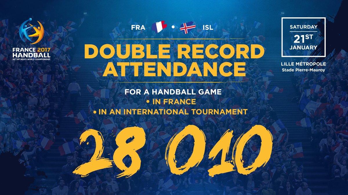 Another record broken 👊🏼  #Handball2017 #PhenomenalHandball https://t....