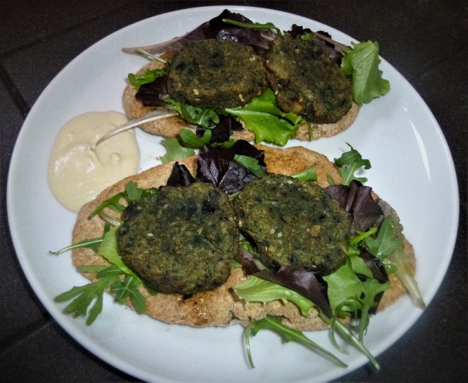 Baked Zaatar Falafel's with a Tahini Dip Recipe