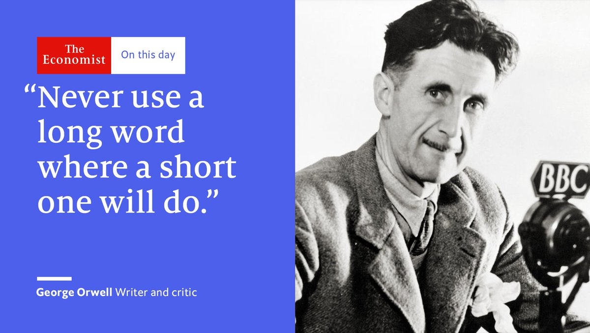 George Orwell died #OnThisDay 1950. His six golden writing rules: http...