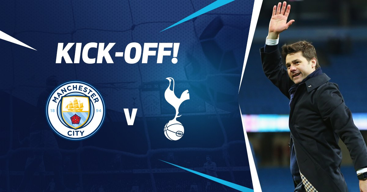 KICK-OFF: We are off and under way at the Etihad Stadium. Come on you...