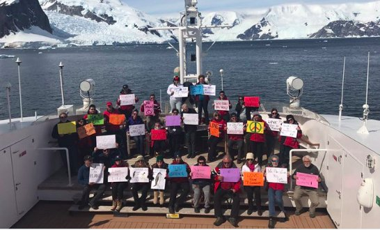 People in Antarctica are holding their own Women's March https://t.co/4HSTvgKthC