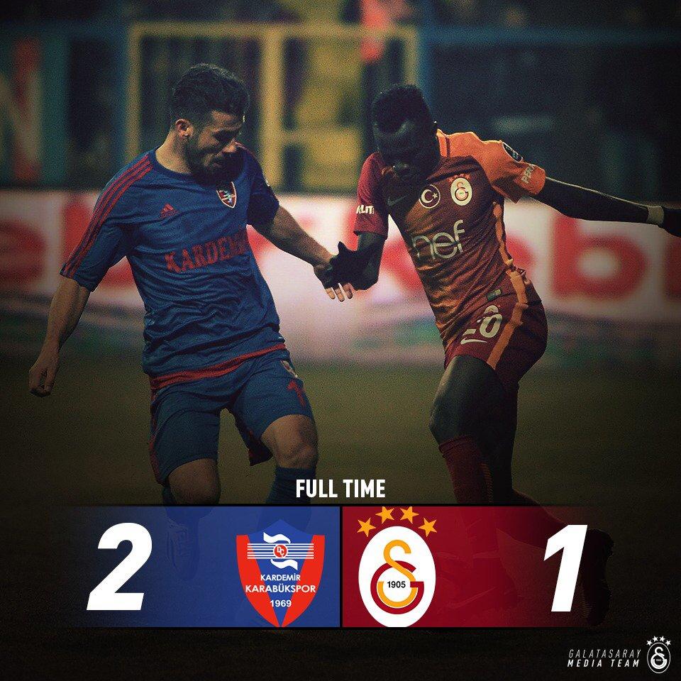 MAÇ SONUCU | Karabükspor 2-1 Galatasaray https://t.co/ROSOyUrFUS