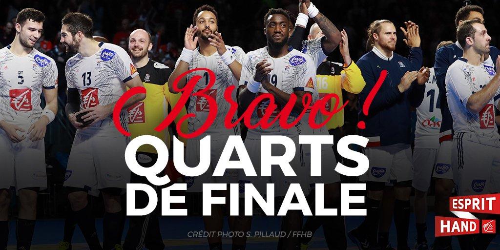 Direction les 1/4 de finale pour nos Français ! 😃 #Handball2017  #Espr...