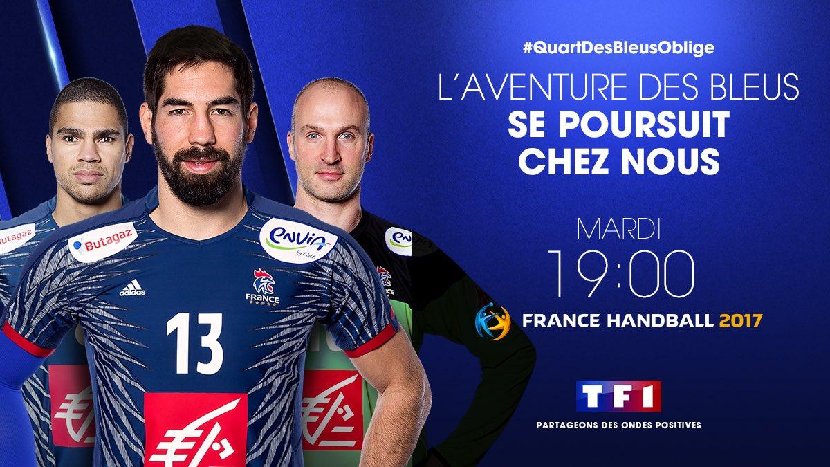 Bravo les Bleus ! #QuartDesBleusOblige, on s'organise... #Handball2017...