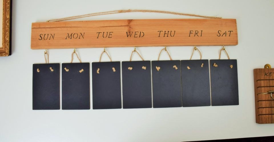 Rustic Weekly Planner Memo board replica Slate chalkboard Solid Wood  http:// tuppu.net/1147797e  &nbsp;   #Epiconetsy #Planner <br>http://pic.twitter.com/kreDFREqyr