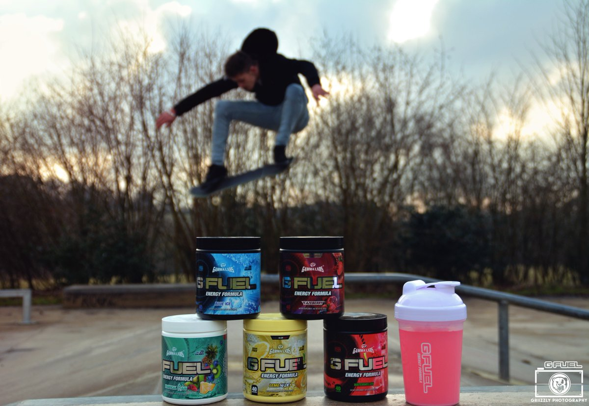 Late post, I took my gfuel to the skate shoot.  W/ My younger brother....