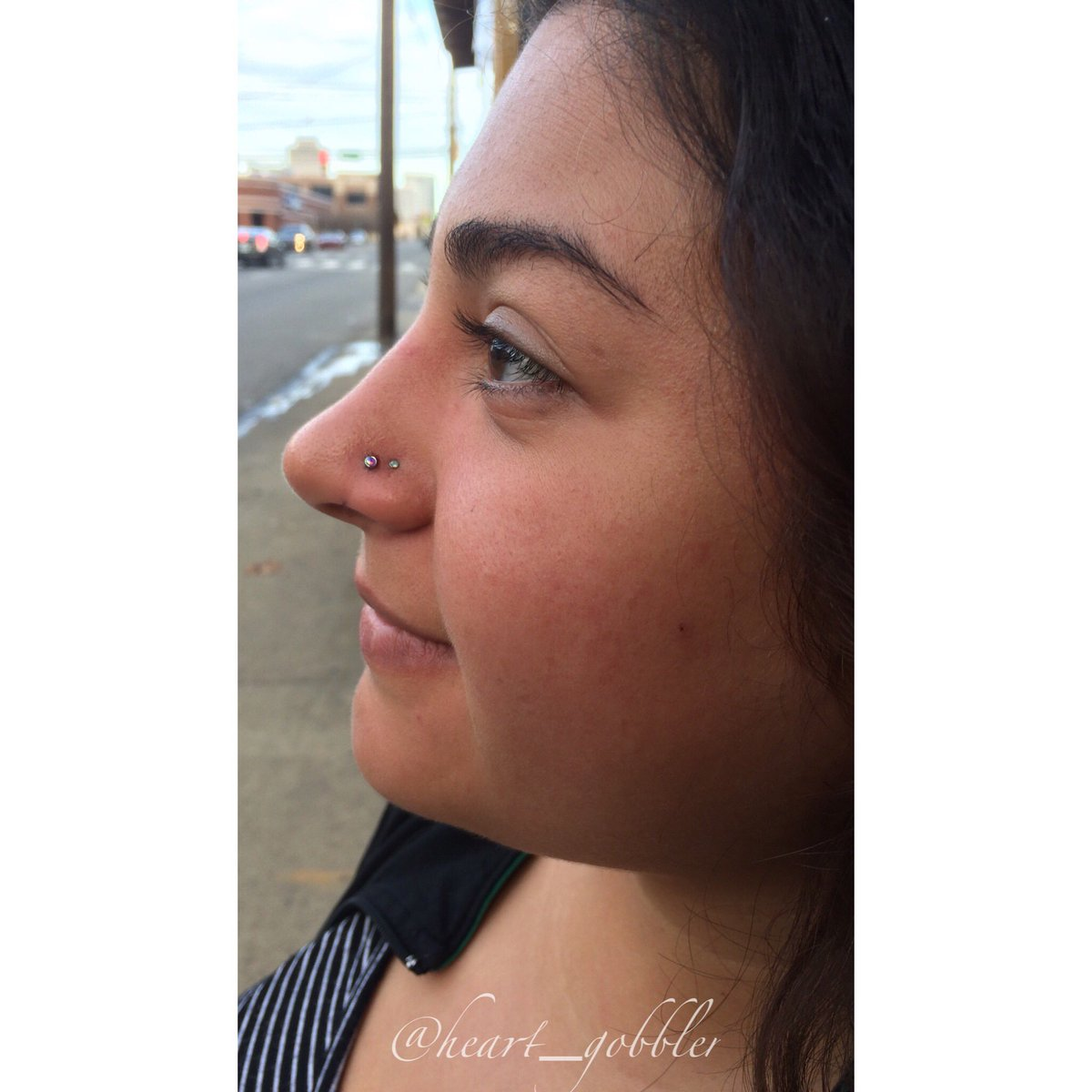 Kristina Outland On Twitter Added Yasmin S Front Nostril Piercing