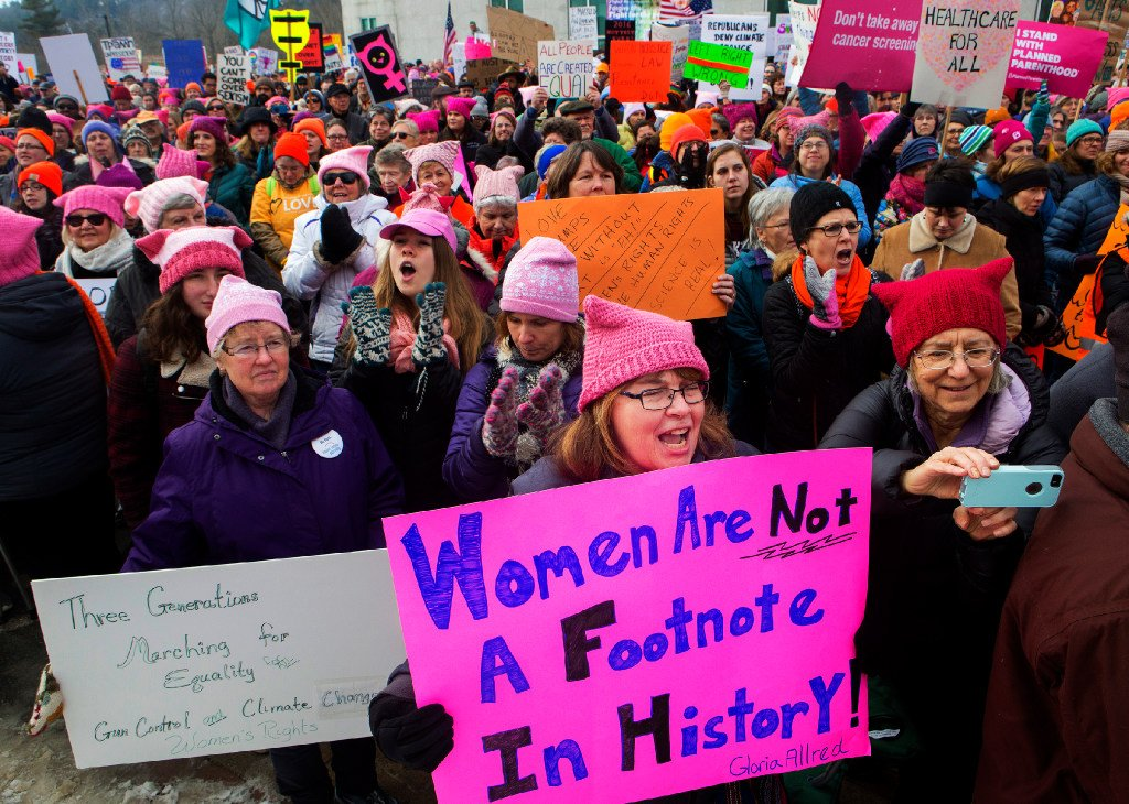 Marchers flock to Maine cities to stand up to Trump https://t.co/DdRvSOXSJO https://t.co/qk6evpo9P1