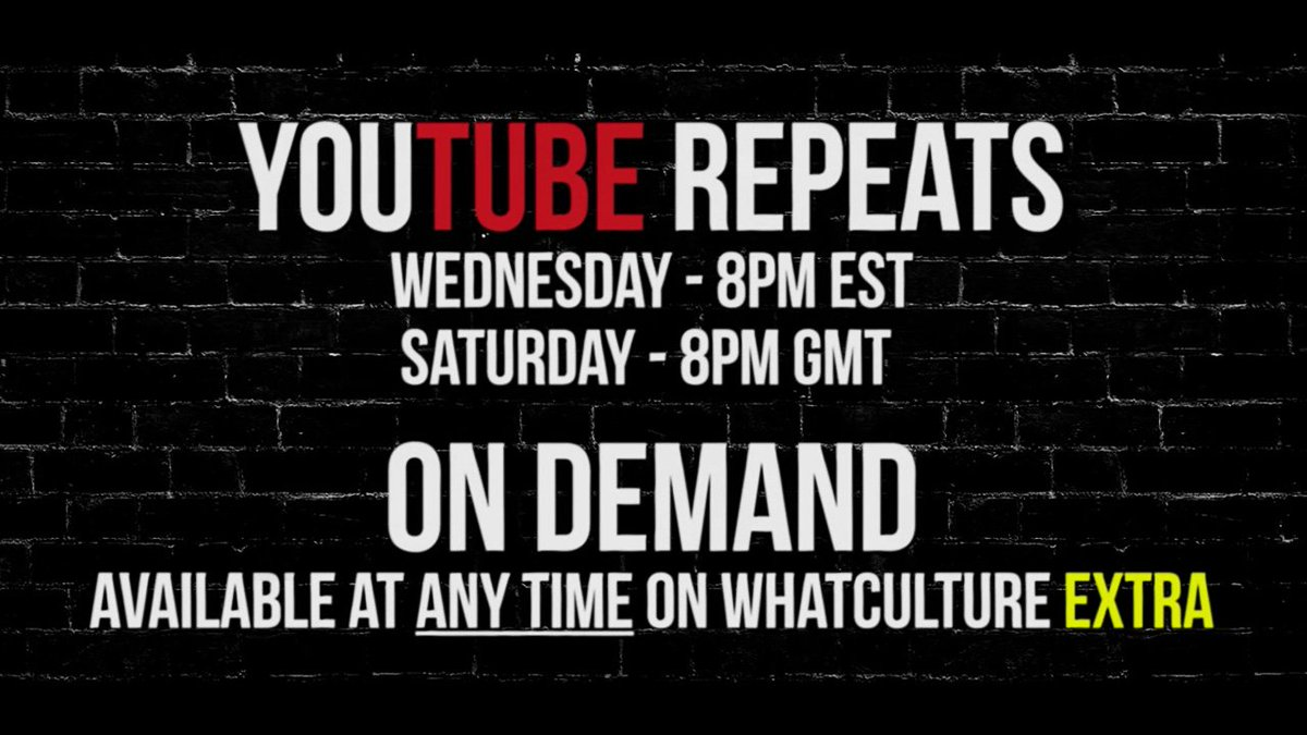 #WCPW Loaded replays for free in FIVE MINUTES on YouTube. Tune in here...