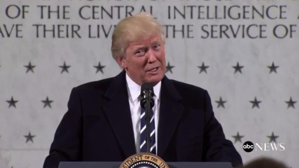 LIVE: Pres. Trump addresses CIA following weeks of feuding with intel...