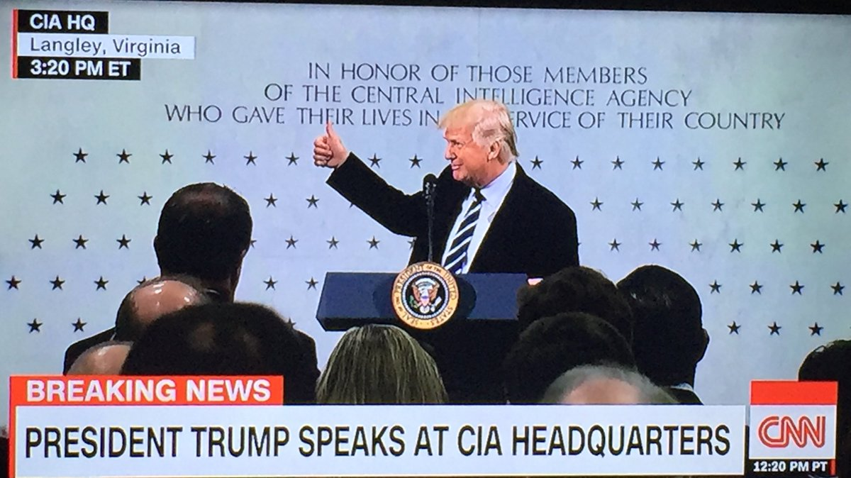 Image result for Images of Trump speaking at the CIA