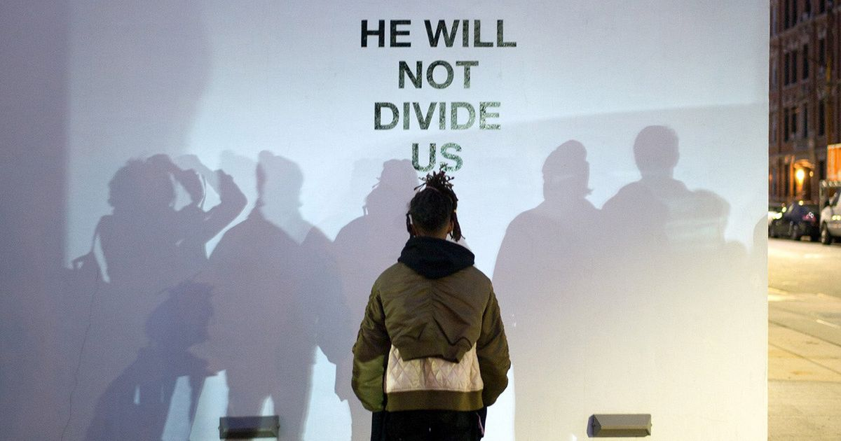 Shia LaBeouf starts a 4-year livestream to protest Trump https://t.co/...