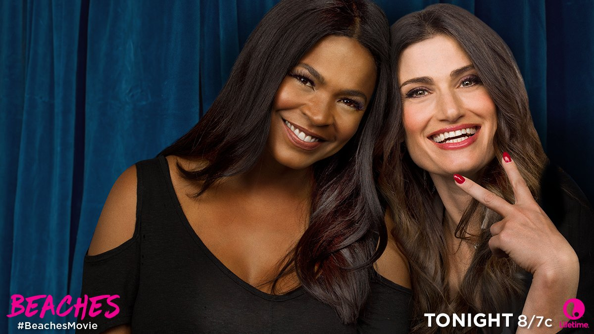 Don't miss @IdinaMenzel and @NiaLong in the premiere of the #BeachesMo...