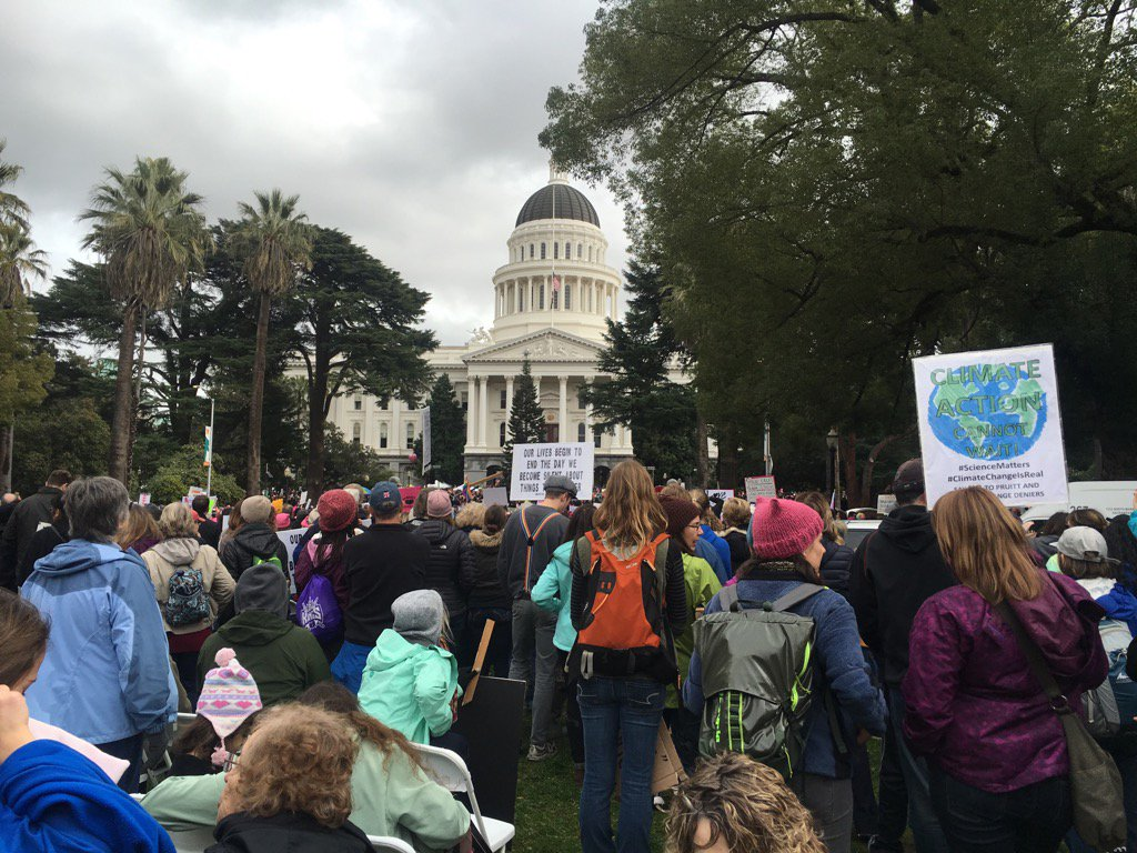 photo of Sacramento's January 21 Women's March