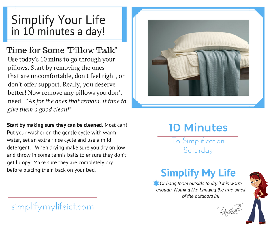 #Saturday Simplication- #storage #declutter #organizer #simplify #entrepreneur #tips #10mins #home #MasterBed #pillows #sweetdreams #sleep<br>http://pic.twitter.com/fnZswMP1mC
