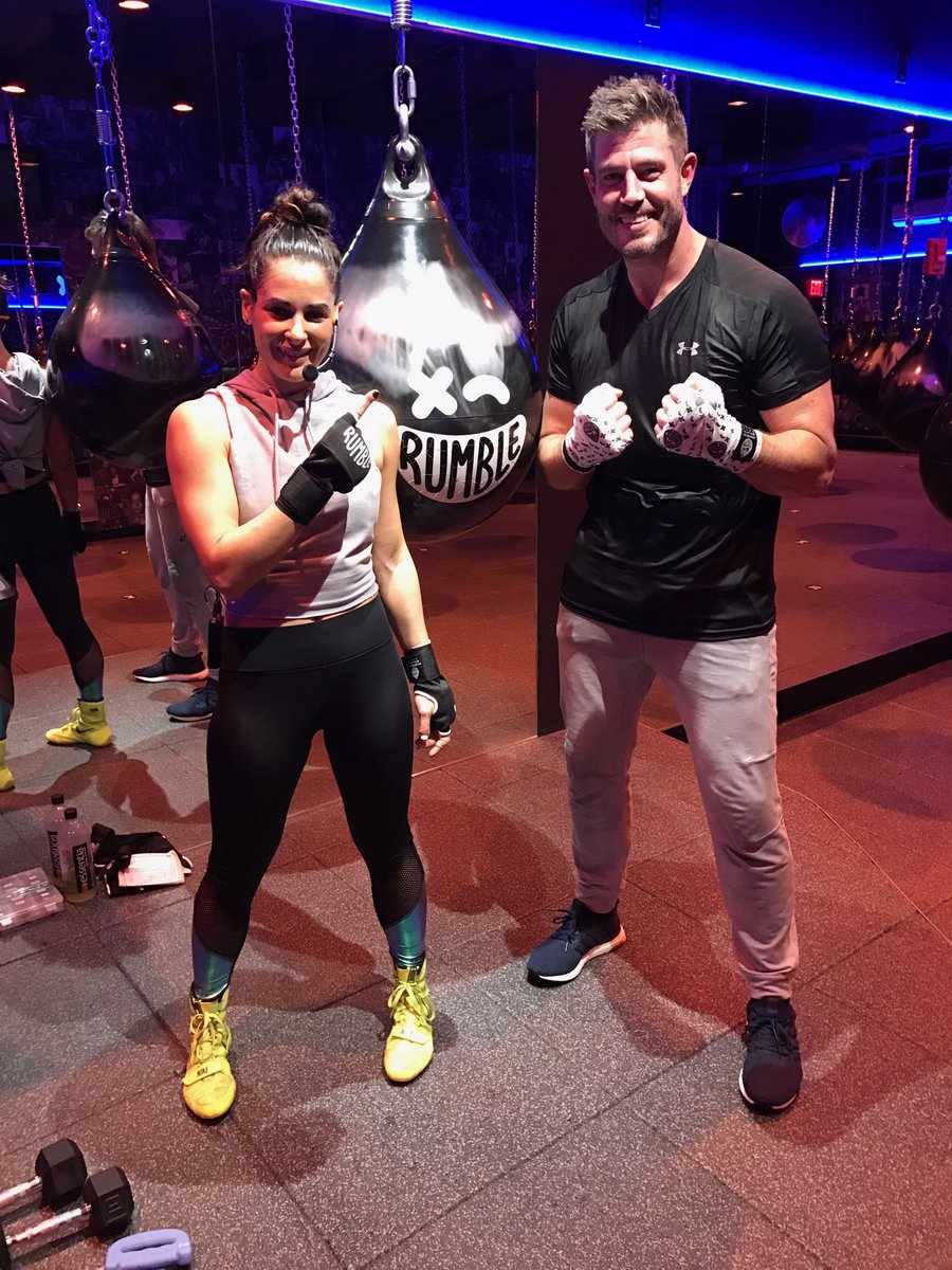 Thanks to @AshleyGuarrasi for an awesome workout at @RumbleBoxingNYC!!...