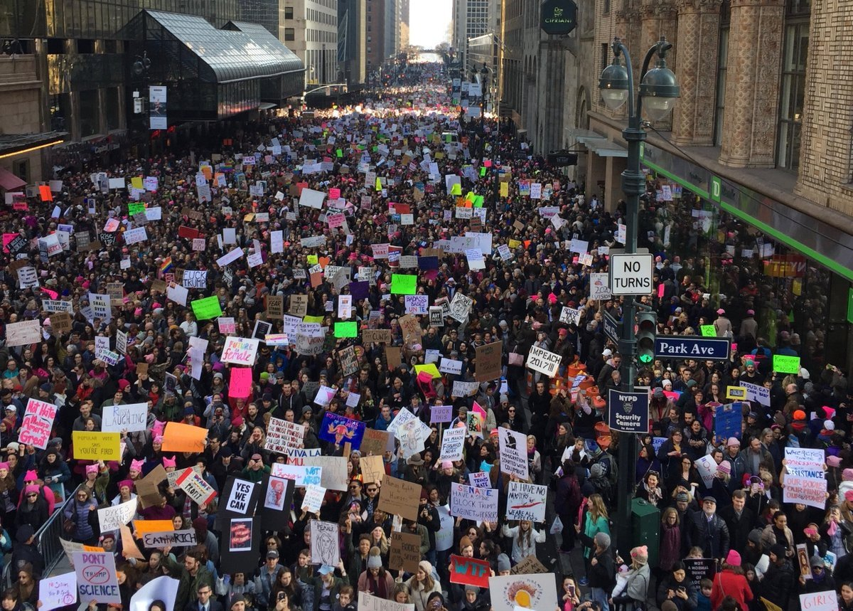 Dear World: If you've been wondering what happened to America, here it is. We're still here, for the long fight. Please stand with us.