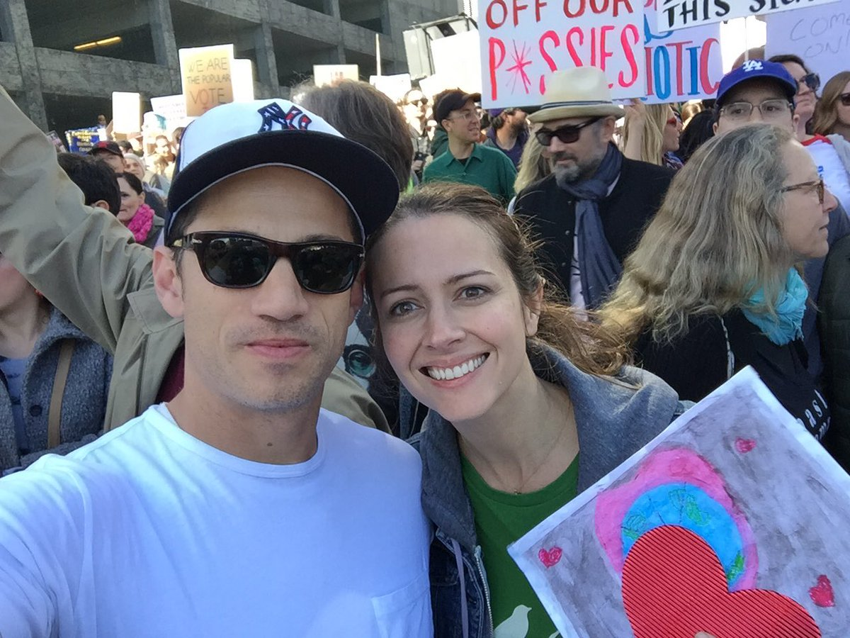 Today @AmyAcker and I marched with Jack and Ava and a shit ton of other people. https://t.co/ea7ZrkulJp . Bravo LA! https://t.co/VVGzx5RPkk