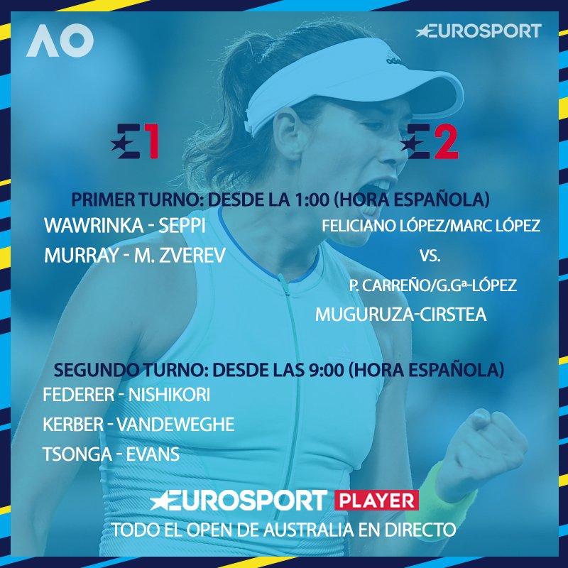 Deja de darle vueltas y apunta. ¡Noche del mejor tenis  en #E1 y #E2!  #AusOpen <br>http://pic.twitter.com/YLoLurRphC