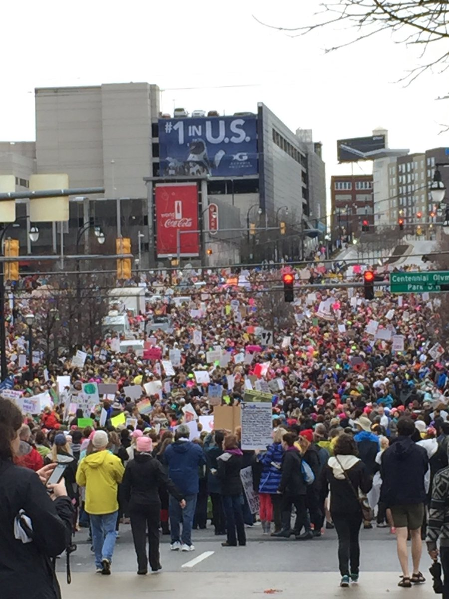 Crowd estimate updated to 60,000 for March for Social Justice and Women in Downtown. https://t.co/rgNM1WhVsQ