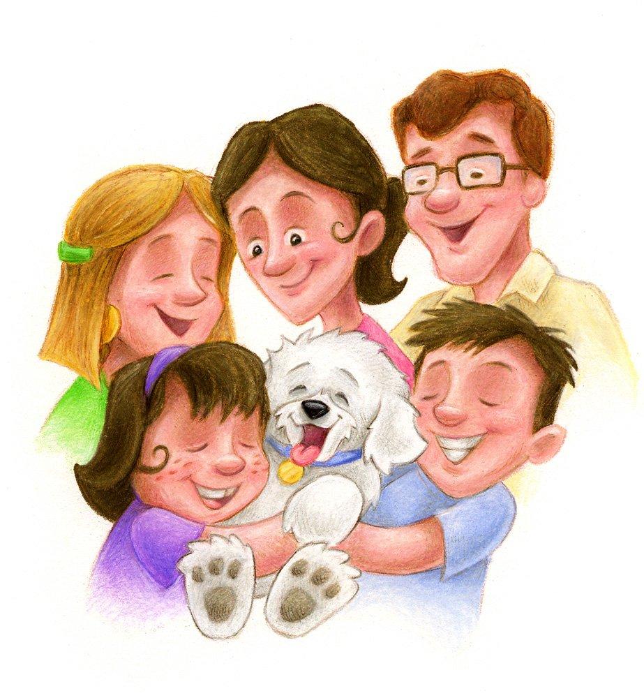Картинки с изображением семьи для школы, рождественская открытка