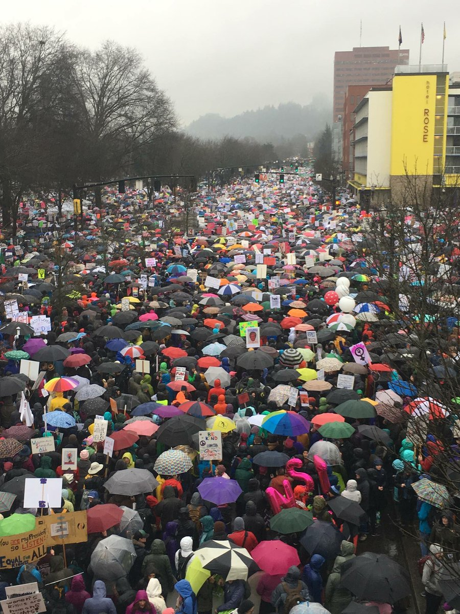 So proud of Portland today. Not just another rainy day! #WomensMarch #PDX #Repost<br>http://pic.twitter.com/NEvdBs5cnU