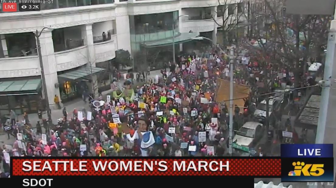 Massive turnout for #Seattle #WomensMarch - up to 130K   WATCH LIVE >>  https://t.co/lNJWWDleo6  #seattlewomxnsmarch #seattlewomensmarch https://t.co/DXk05rKihA