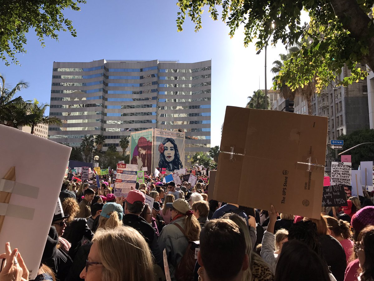 Amazing day! I hope we can turn the interest into action. #womensmarchla #WomensMarch https://t.co/Pih3OcPpJ4