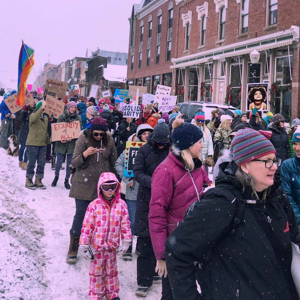 Living In A Small Town Didn't Stop These People From Starting Women's Marches
