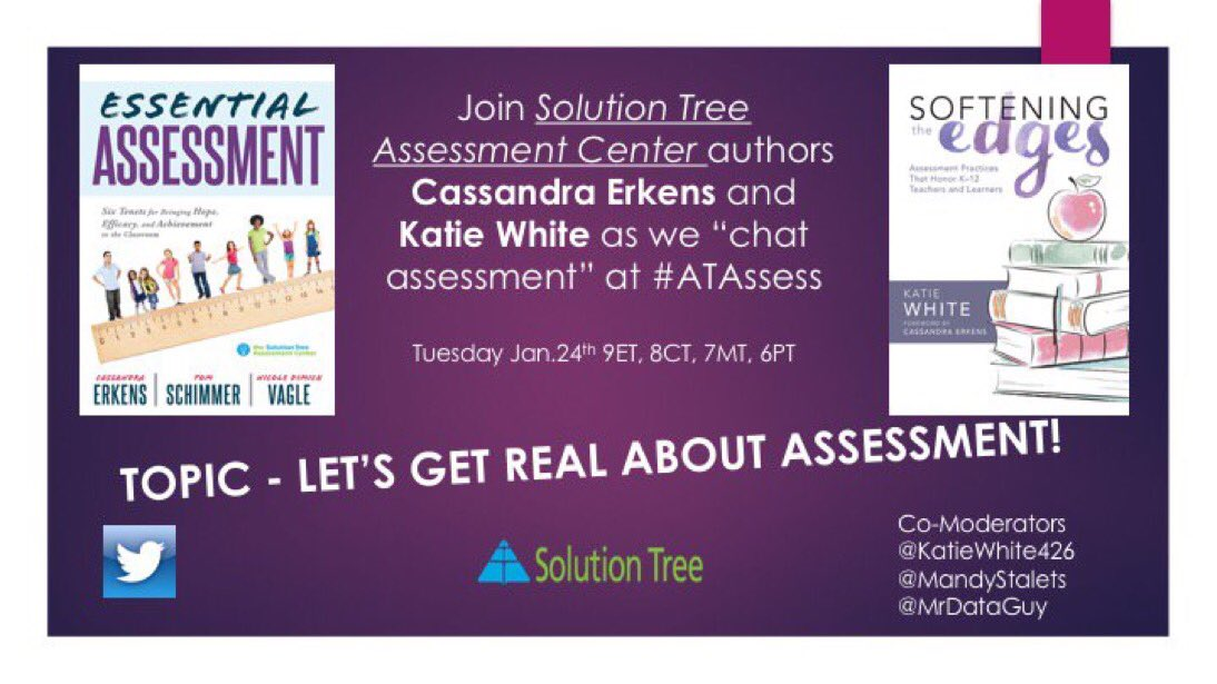 Join #ATAssess chat, Tues 8 CT. @cerkens is in the house!! It will be awesome. https://t.co/u6YwaKKqSW