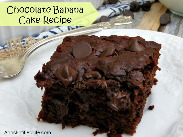 Chocolate Banana Cake Recipe