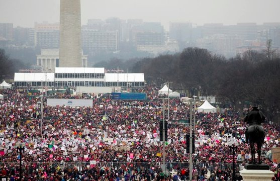 Combined totals of 2.9 million makes Womens March the single biggest political protest in US history. #resist https://t.co/Ouo0bywY9n