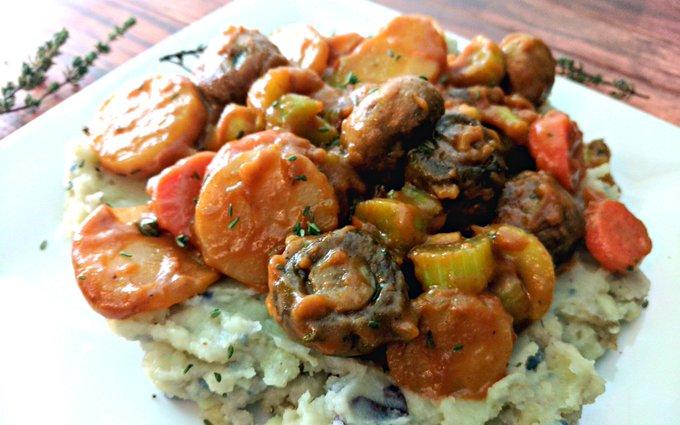 Mushroom Bourguignon for Two [Vegan, Gluten-Free]