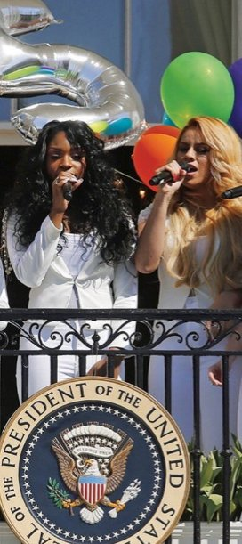Here&#39;s Normani and Dinah performing at the White House to make you sad all over again about the Obamas leaving. #GoodbyeObamas <br>http://pic.twitter.com/hMqdjbvOgm
