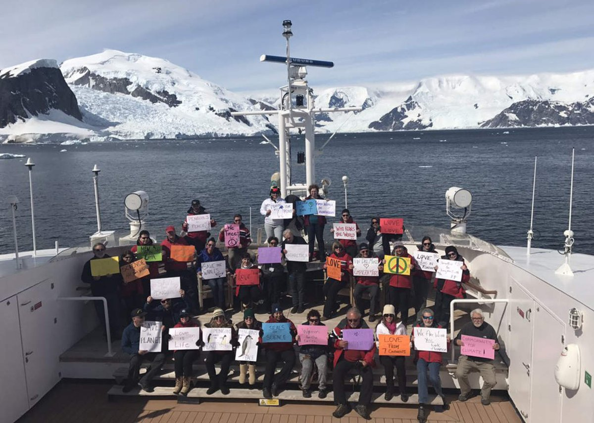 #WomensMarch Antarctica! Love and respect our mother earth. She's the only one we've got. https://t.co/fq0aA8uhoM