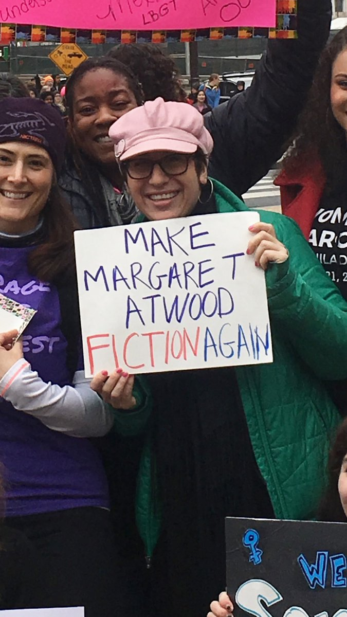 I ❤ you @MargaretAtwood!!! #WomensMarchPHL https://t.co/tmuCb1Ss28
