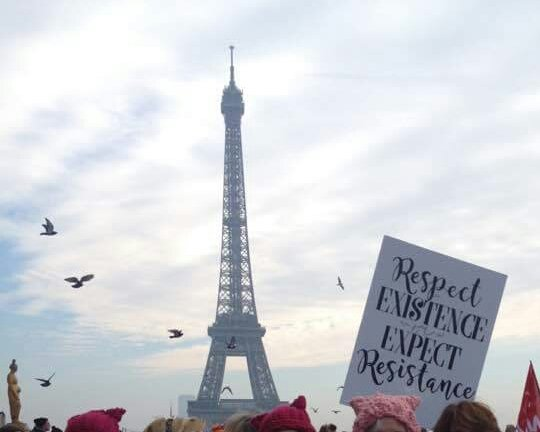 #WomensMarch in Paris!  #democracy #WomensRights #dumptrump #freedom #WhyWeMarch<br>http://pic.twitter.com/KL0NfBePna