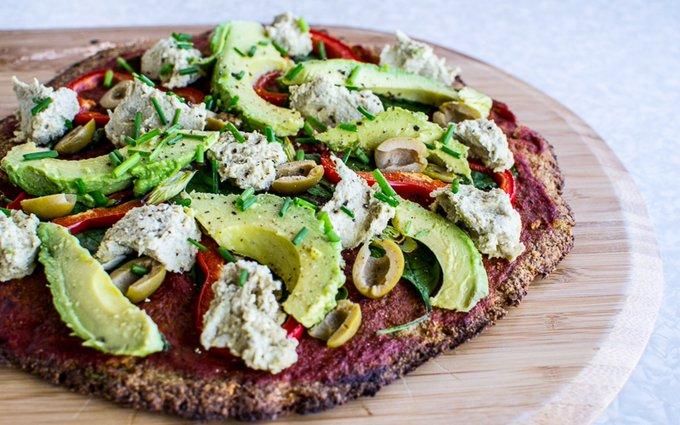 Cauliflower Pizza With Sunflower Seed 'Ricotta' [Vegan, Gluten-Free]