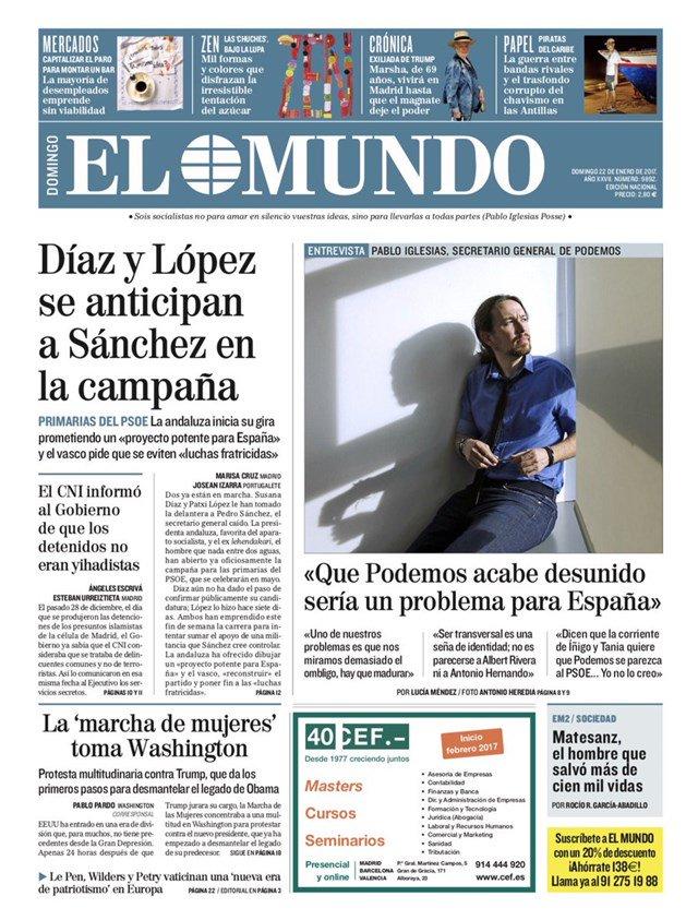 Primeras páginas de los diarios de este domingo #FelizDomingo https://...