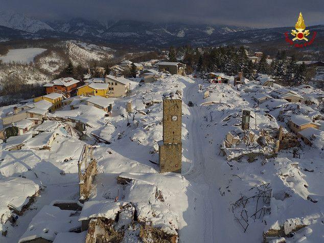 Droni Terremoto Amatrice e Valanga Hotel Rigopiano: premio ai Vigili del Fuoco