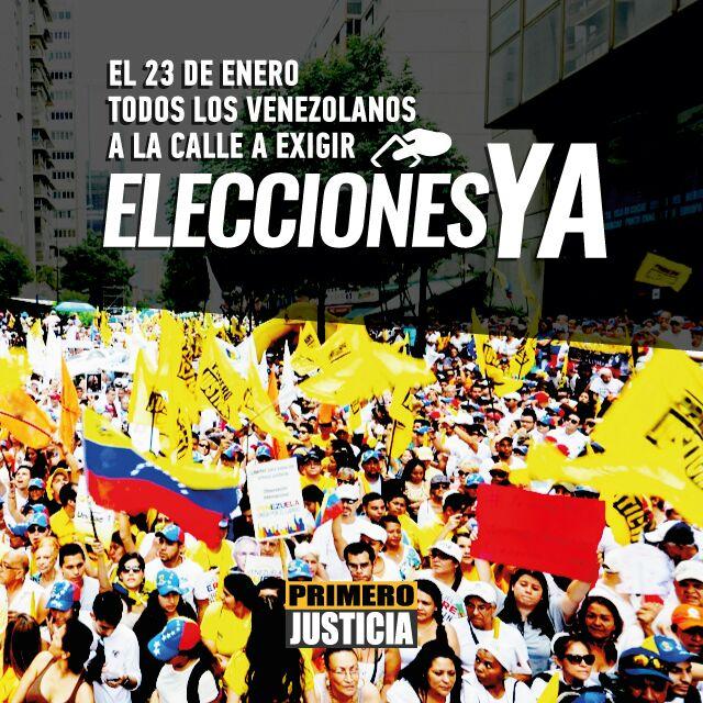 Mañana #23E vamos a las calles a exigir nuestro derecho a elegir un fu...