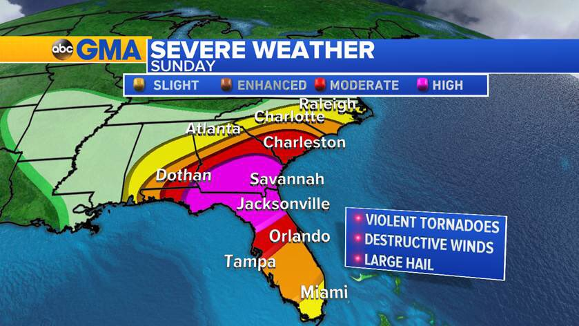Now 15 dead in tornadoes this weekend (11 overnight in Georgia) and ri...
