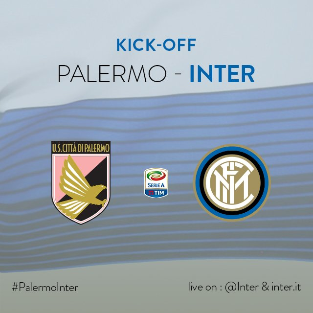 1' - Ci siamo! Inizia #PalermoInter al 'Barbera'. #FORZAINTER!!! ⚫️🔵 h...