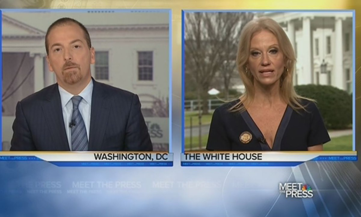 Kellyann Conway tells @chucktodd Sean Spicer was offering 'alternative...