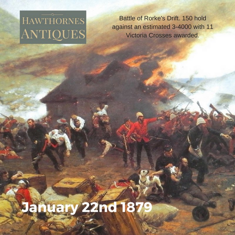 #Antique #OnThisDay #History #OTD  The Battle of Rorkes Drift  https:/...